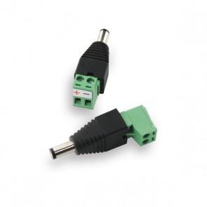 DC 2.1 plug male met schroefconnectie