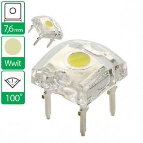 Warm Witte LED 100 graden 7,6mm