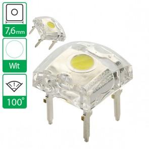 Witte LED 100 graden 7,6mm