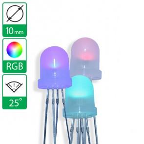 Full color LED 25 graden 10mm diffuus CC