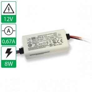 12V 0,67A 8W Mean well voeding APV 8-12