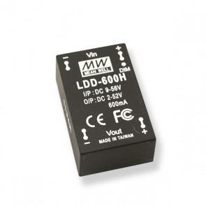 Dimbare 600mA DC-DC Step down LED driver, LDD-600H