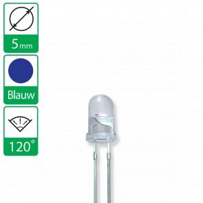 Blauwe LED 120 graden 5mm
