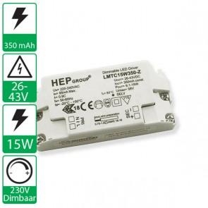 350 mA 26-43V 15W, 230v dimbare HEP voeding LMTC15W350-Z