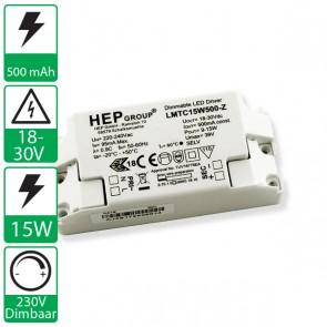 500mA 18-30V 15W, 230v dimbare HEP voeding LMTC15W500-Z