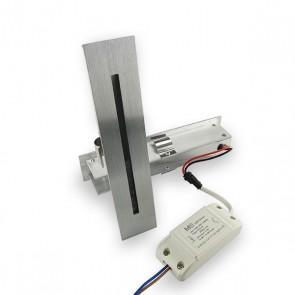 Aluminium Evolight InLED inbouw wandlamp