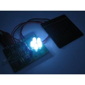 5 LEDs avond verlichting met zonnepaneel