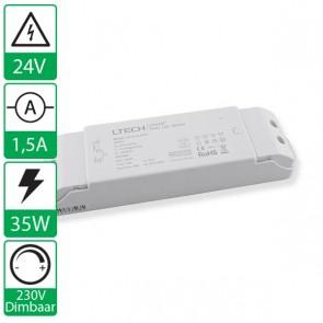 24V 1,5A 36W LTECH voeding LTECH-36-24, 230V dimbaar