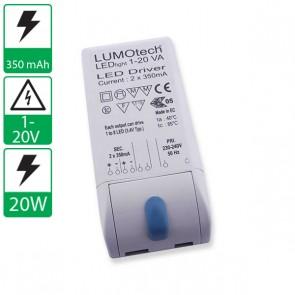 350mA 1-20V Lumotech voeding L05015
