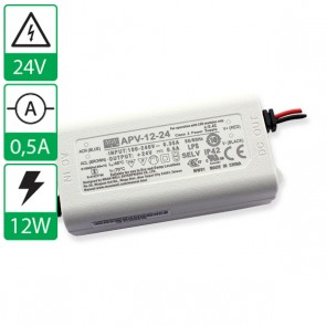 24V 0,5A 12W Mean well voeding APV-12-24
