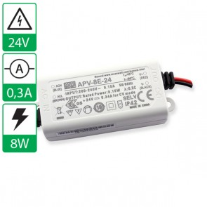 24V 0,34A 8W Mean well voeding APV-8E-24