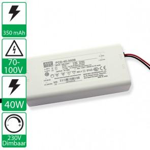 350mA 70-100V 40W, 230v dimbare voeding PCD-40-350B