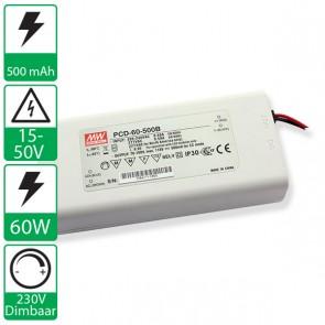 500mA 70-100V 60W, 230v dimbare voeding PCD-60-500B