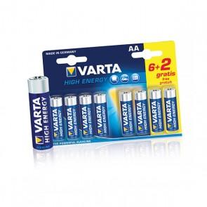 8x AA Batterij